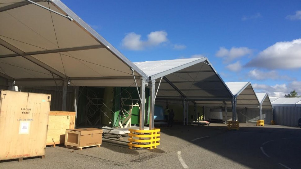 A vast canopy for outdoor operations Temporary Building Types Logistics Solutions
