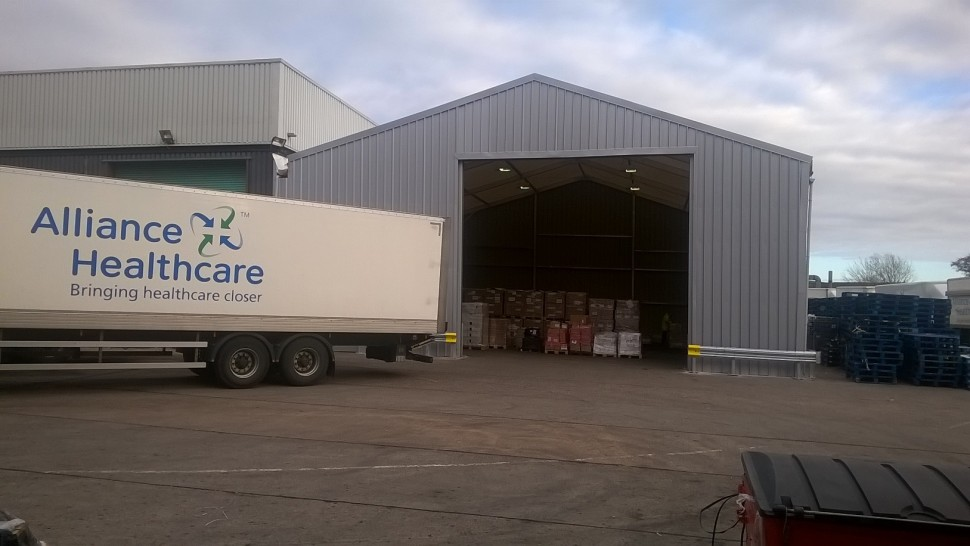 ALLIANCE Healthcare's solution to a full warehouse was a temporary warehouse built fit for purpose