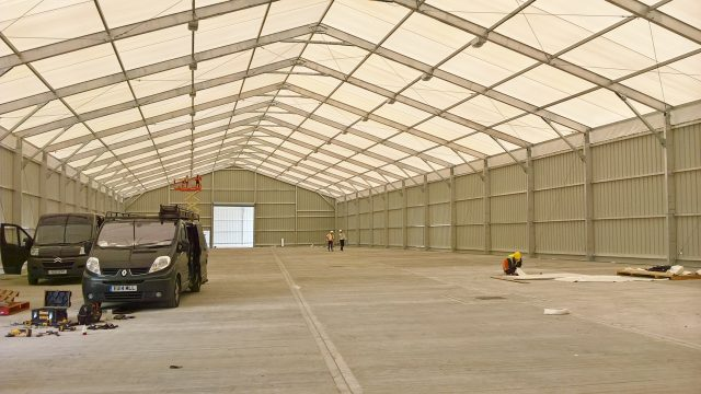 Coca Cola Sidcup Warehouse Warehouse Extension Solutions temporary warehouse solution