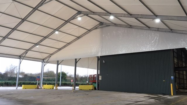 THP Hub Canopy Warehouse Extension Solutions temporary warehouse solution