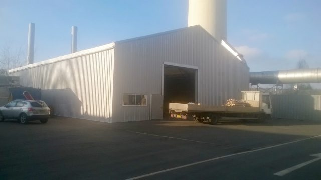 Veolia Workshop and Office Warehouse Extension temporary warehouse solution