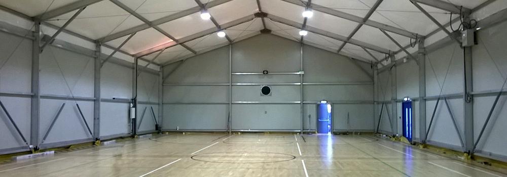 Sports Hall Interior back wall